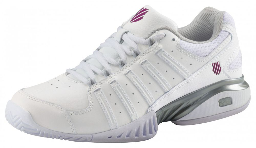 K-Swiss TFW RECEIVER III - white/silver/veryberry