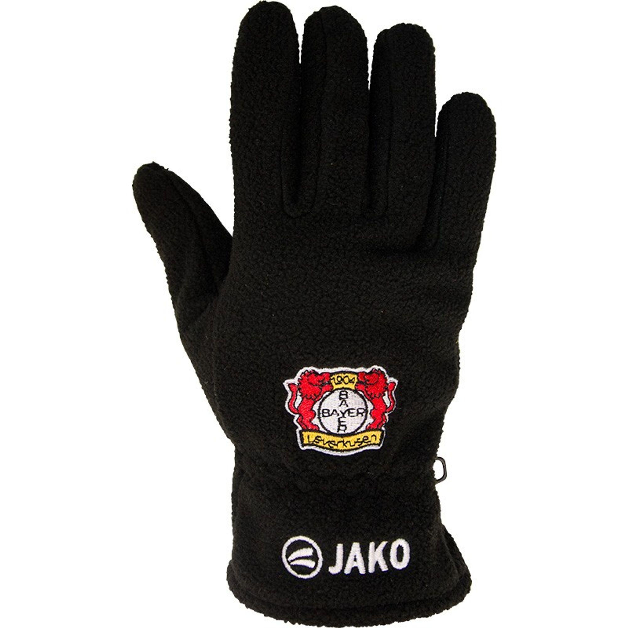 Jako Bayer 04 Leverkusen Fleecehandschuhe - schwarz