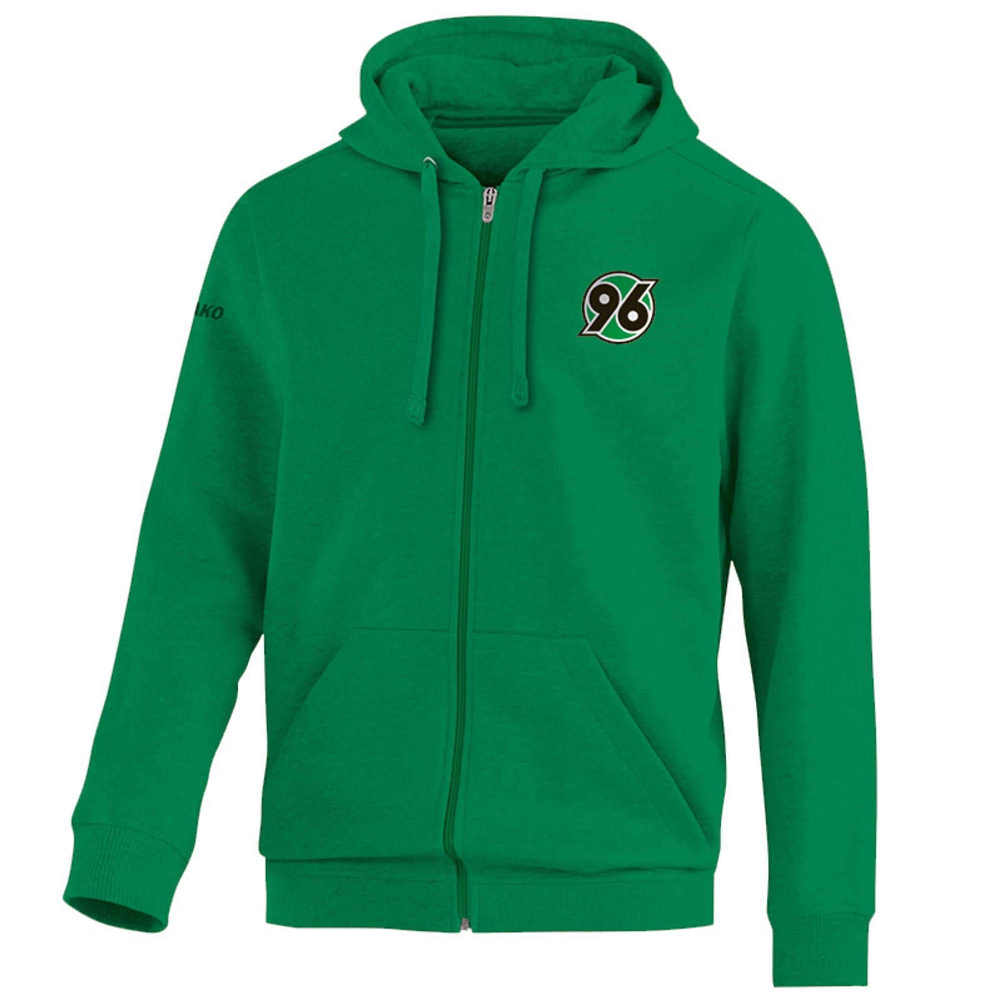 Jako Hannover 96 Kapuzenjacke Team - sportgrün
