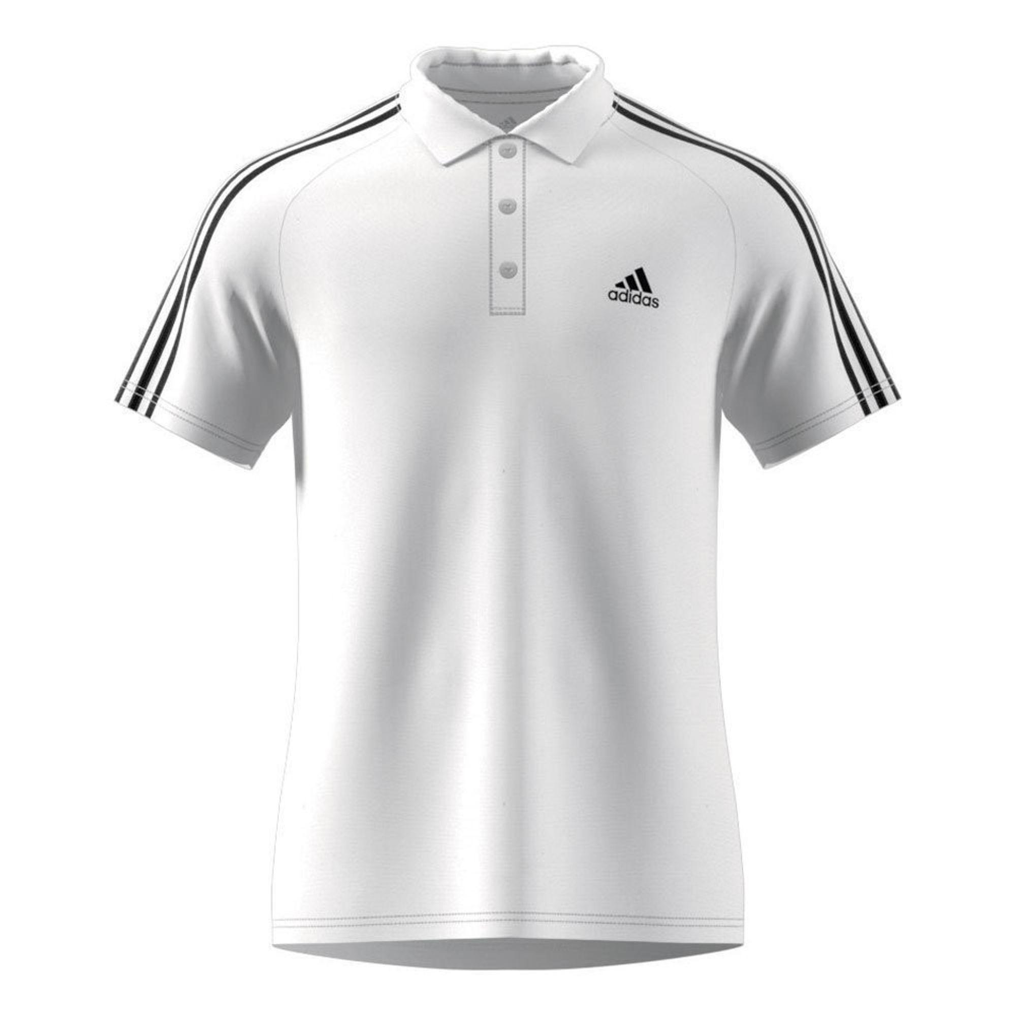adidas D2M 3S Polo - white