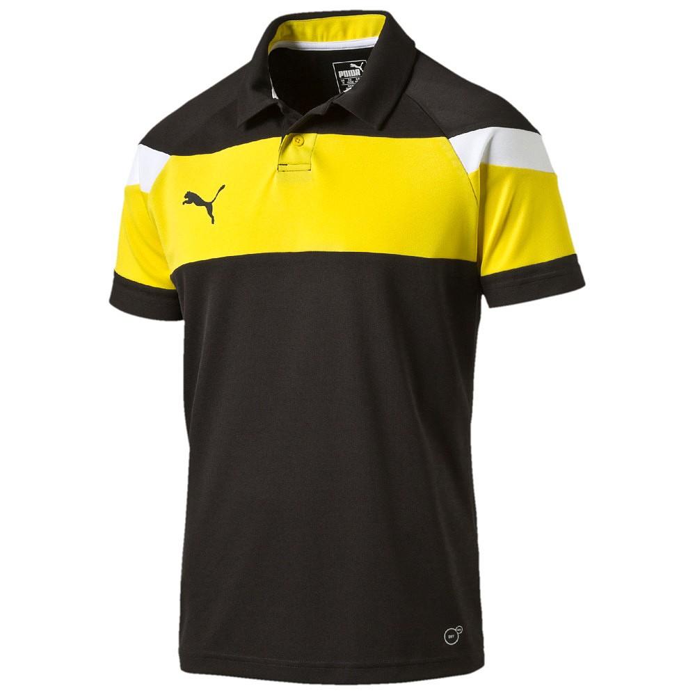 Puma Spirit II Polo - black-cyber yellow