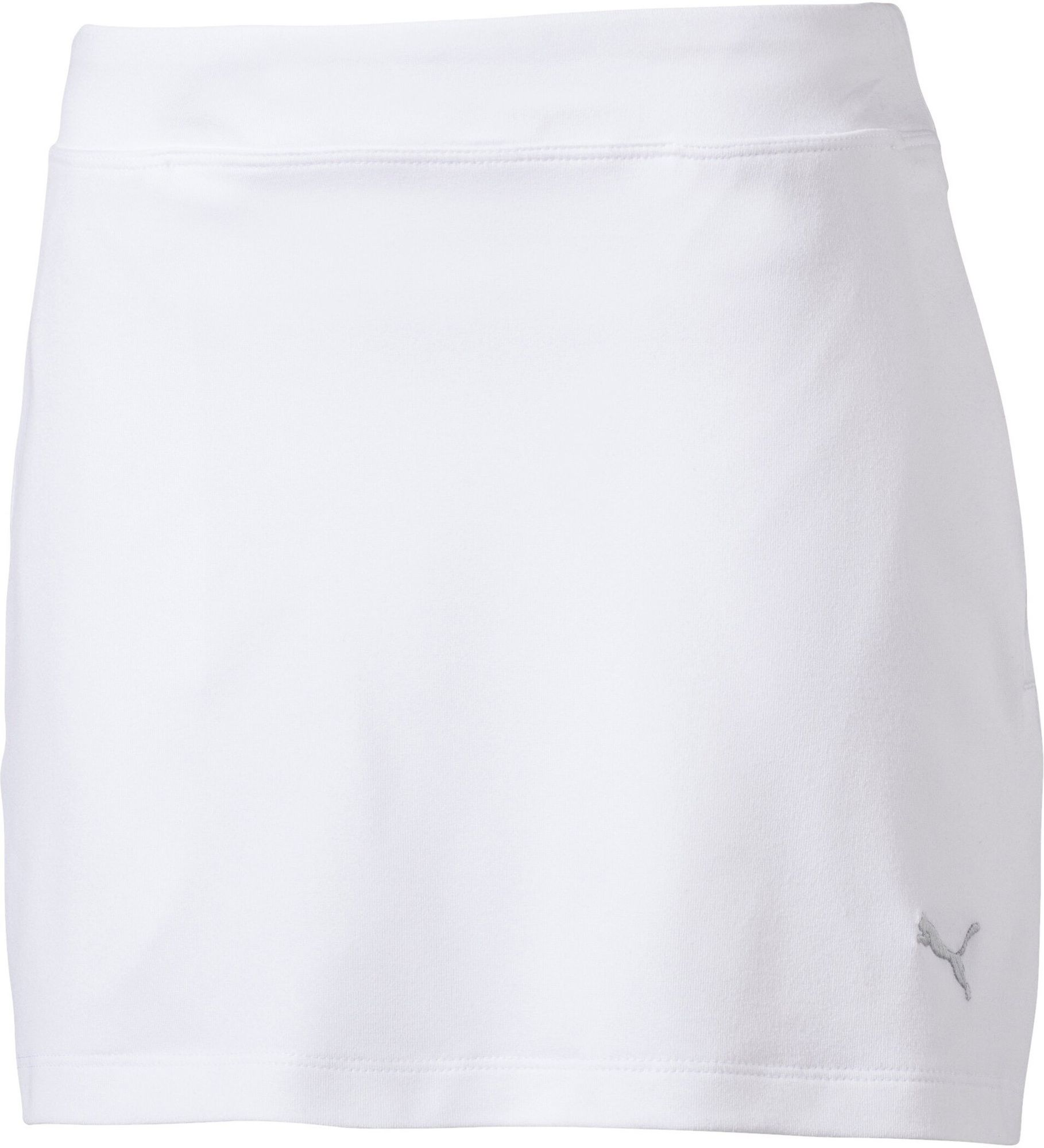 Puma Girls Solid Knit Skirt - bright white