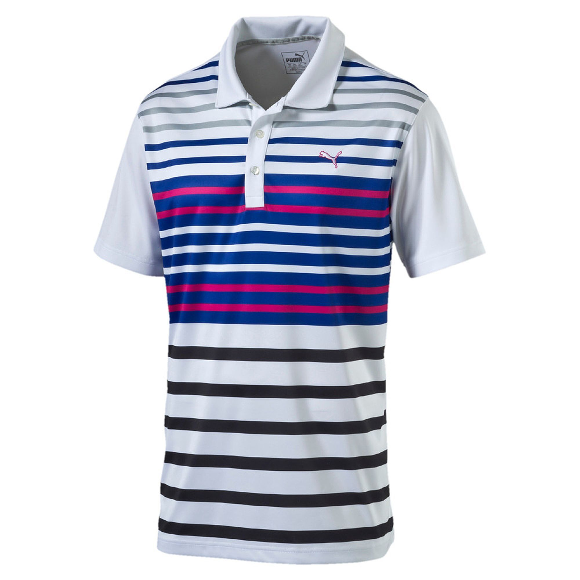 Puma SS Road Map Polo - bright white-beetroot