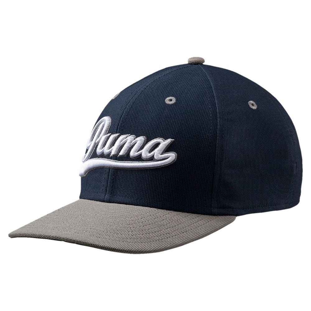 Puma Youth Script Fitted Cap - peacoat-folkstone gray