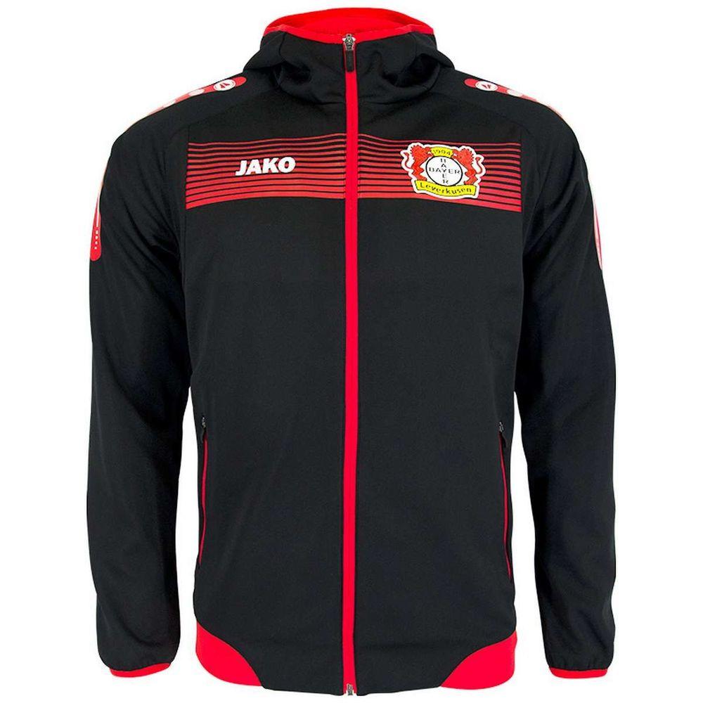 Jako Bayer 04 Leverkusen Einlaufjacke M. Kapuze - schwarz/rot