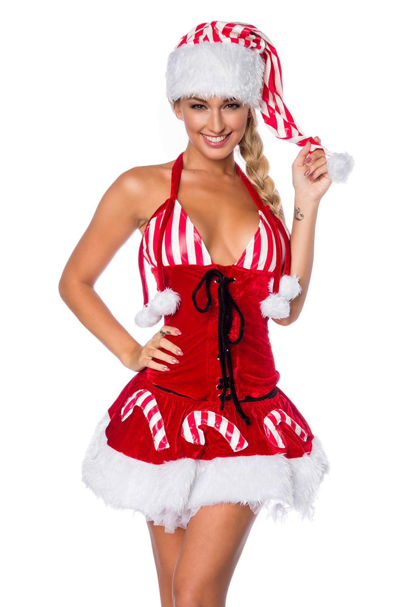 Atixo Weihnachts-Set mit Mütze - rot/weiß