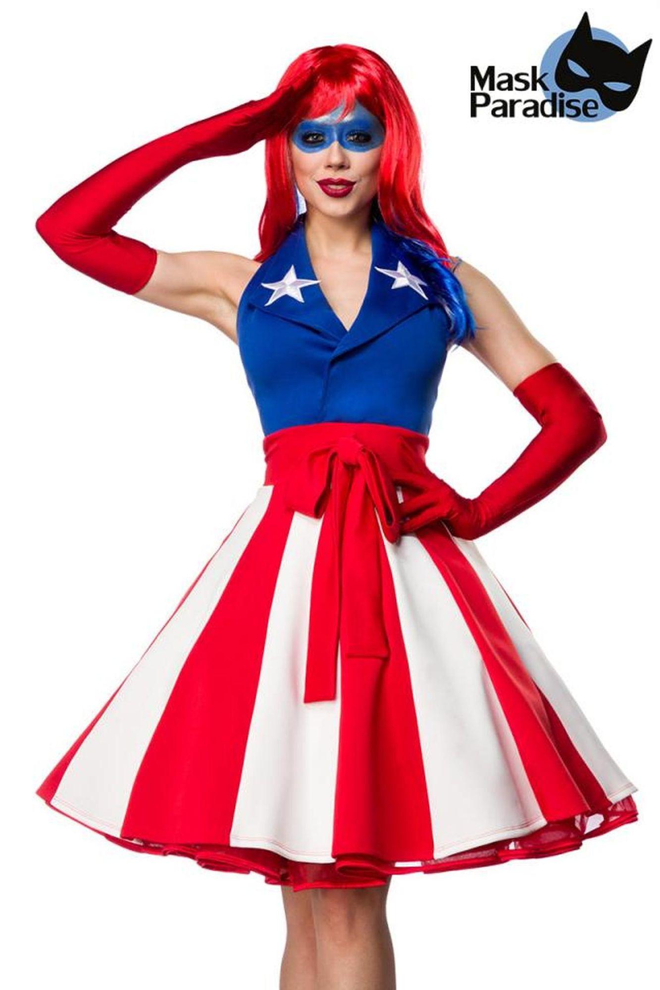 Mask Paradise Miss America - blau/rot/weiß