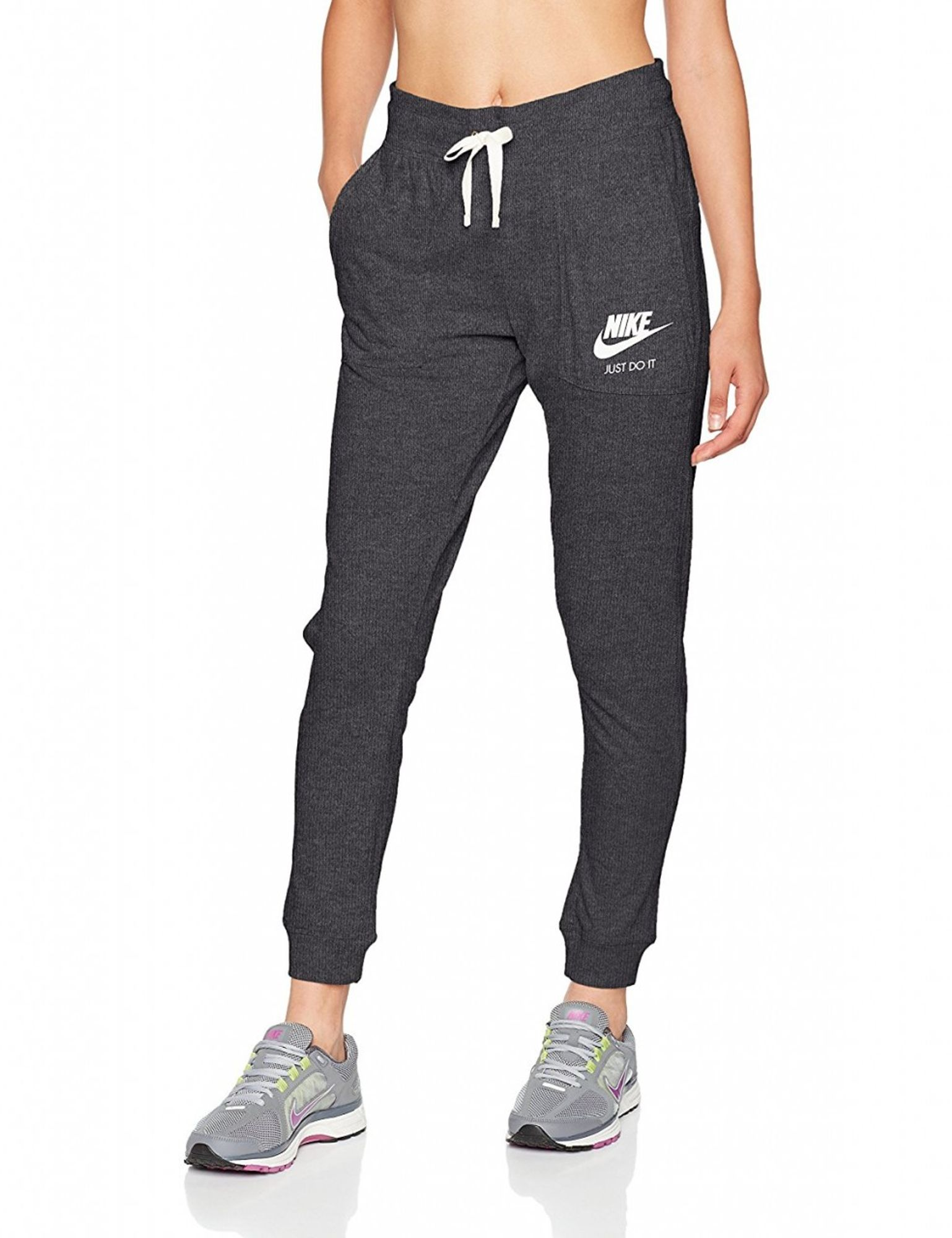 Nike W Nsw Gym Vntg Pant - anthracite/sail
