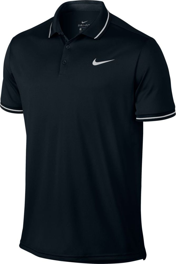 Nike M Nkct Dry Polo Solid Pq - black/white