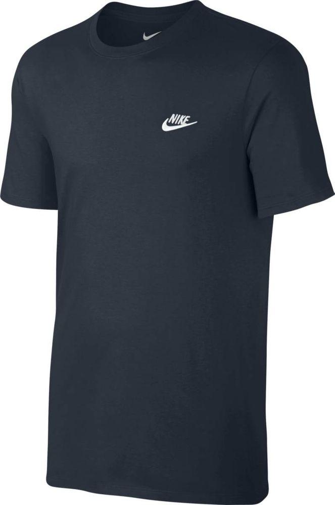 Nike M Nsw Tee Club Embrd Ftra - dark obsidian/white