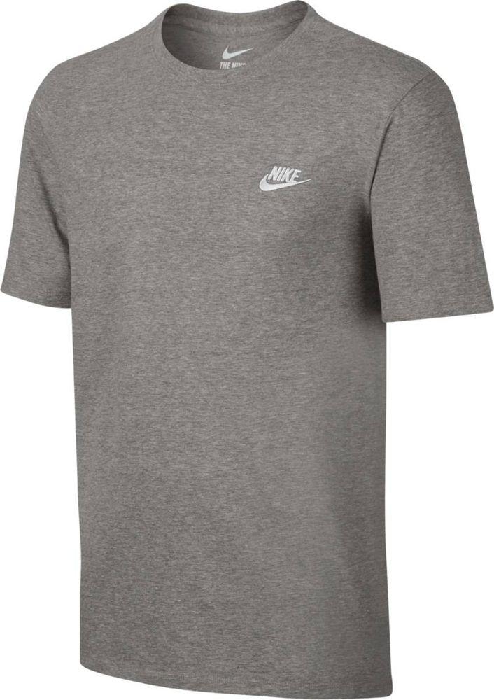 Nike M Nsw Tee Club Embrd Ftra - dk grey heather/cool grey