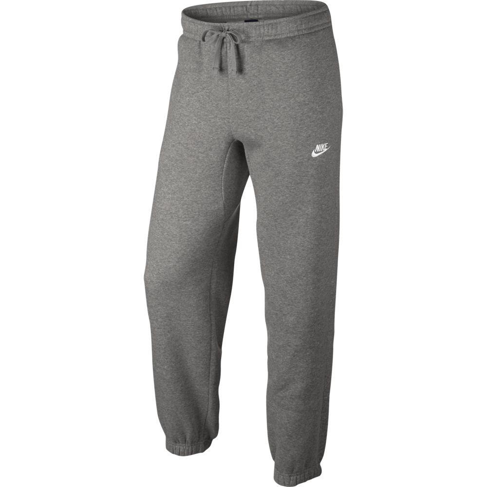 Nike M Nsw Pant Cf Flc Club - dk grey heather/white