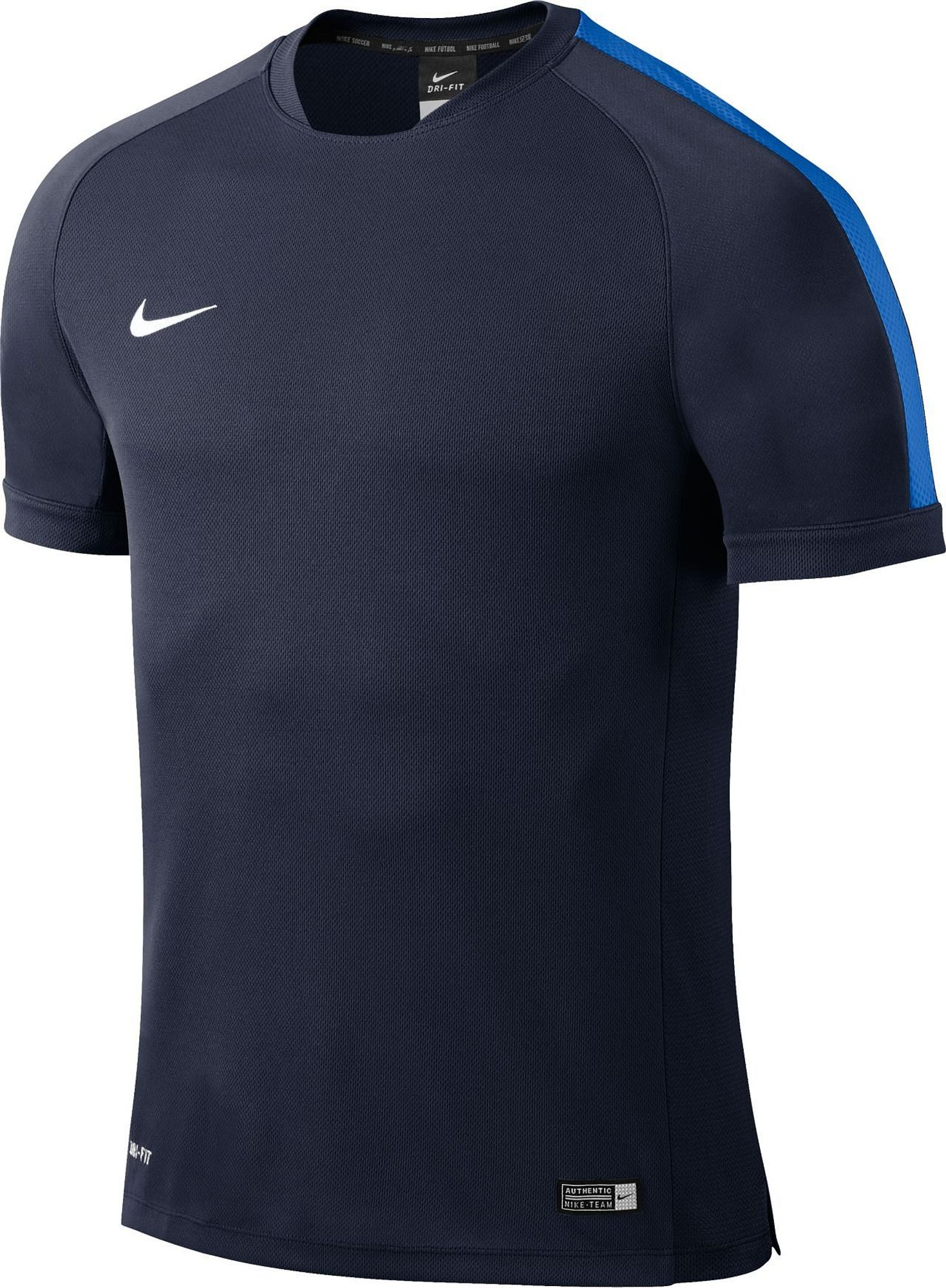 Nike Yth Squad15 Flash Ss Trng Top - obsidian/royal blue/white