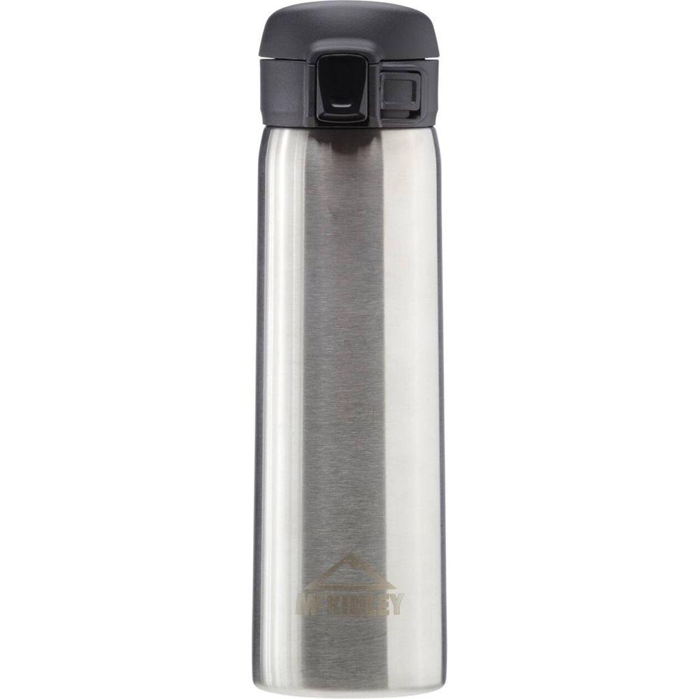 McKINLEY Trinkflasche  Bubble Safe Edelstahl - metallic/schwarz