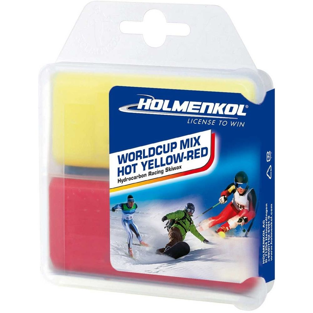 Holmenkol Worldcupmix Hot Yellow/Red 2X35G - -