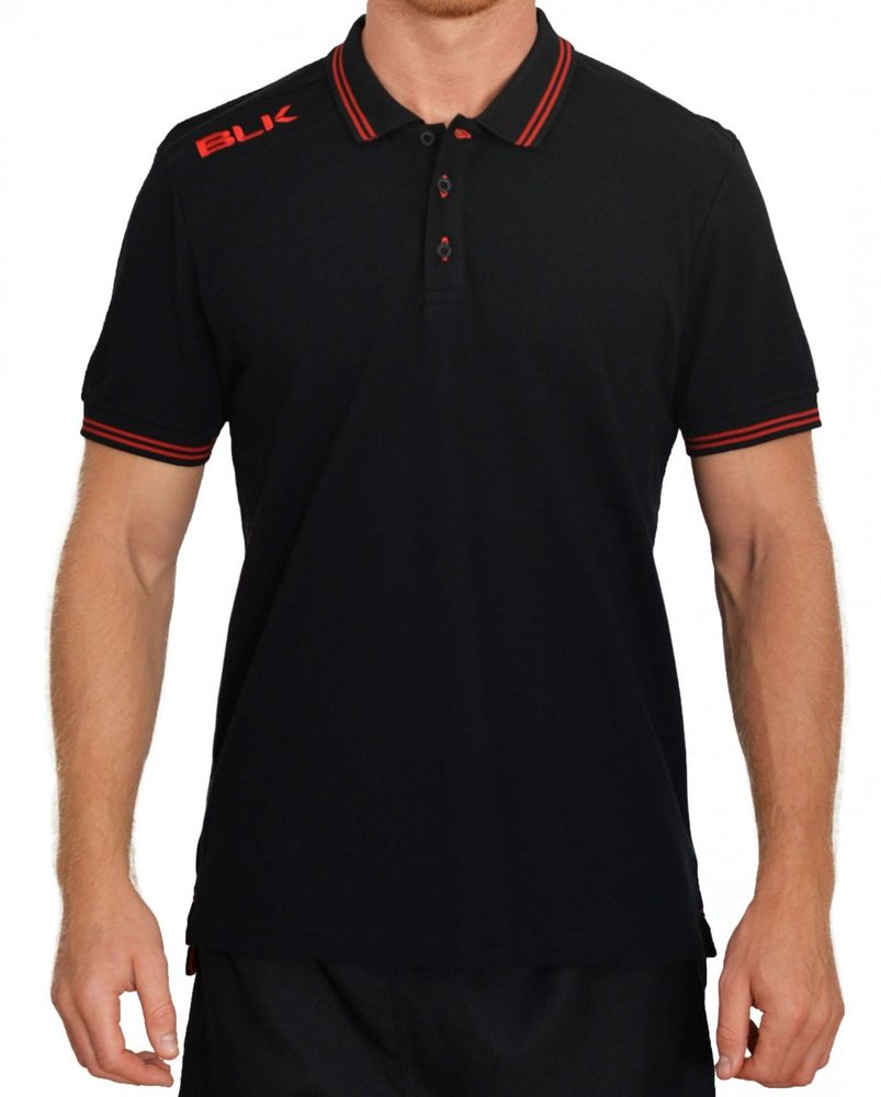 BLK Rugby POLO - schwarz/rot