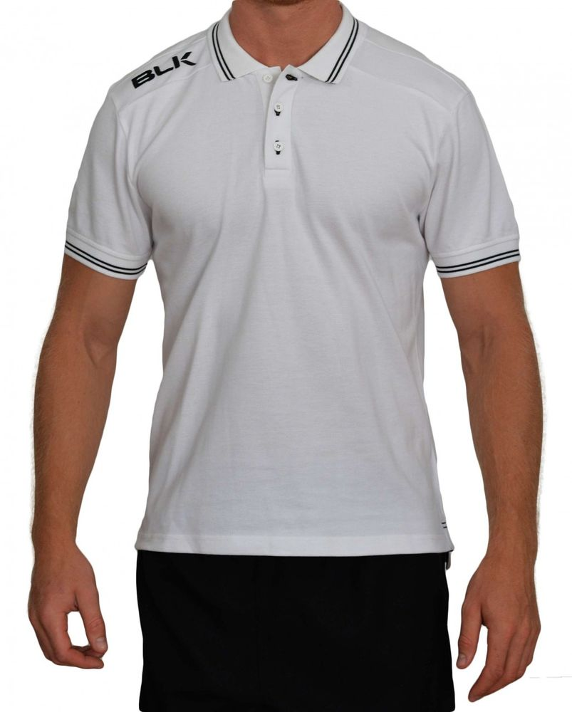 BLK Rugby POLO - weiß/schwarz