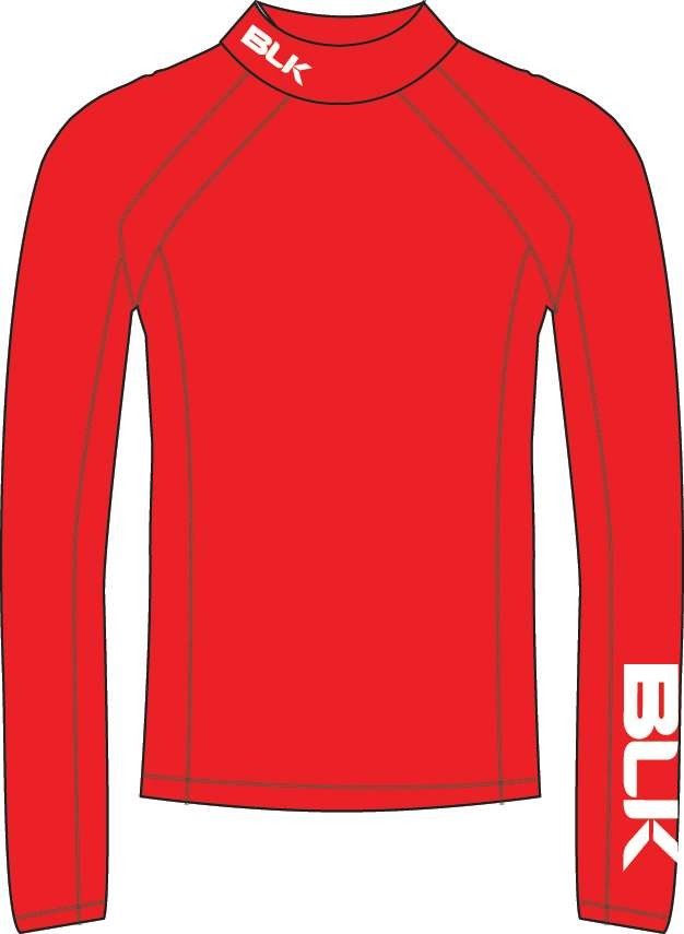 BLK Rugby BASELAYER TOP - rot