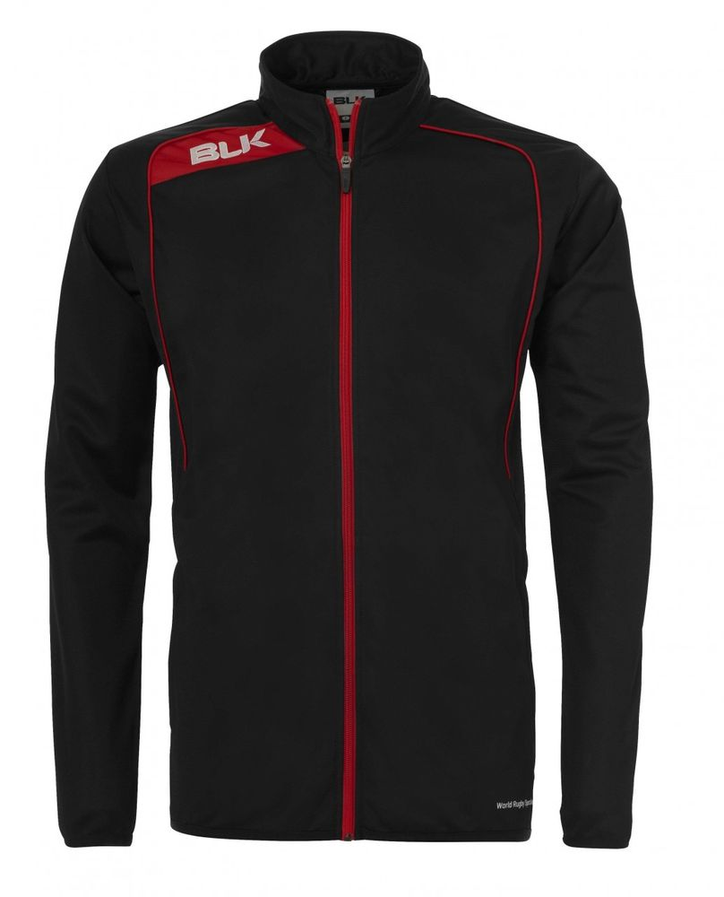 BLK Rugby TRACKSUIT JACKET - schwarz/rot