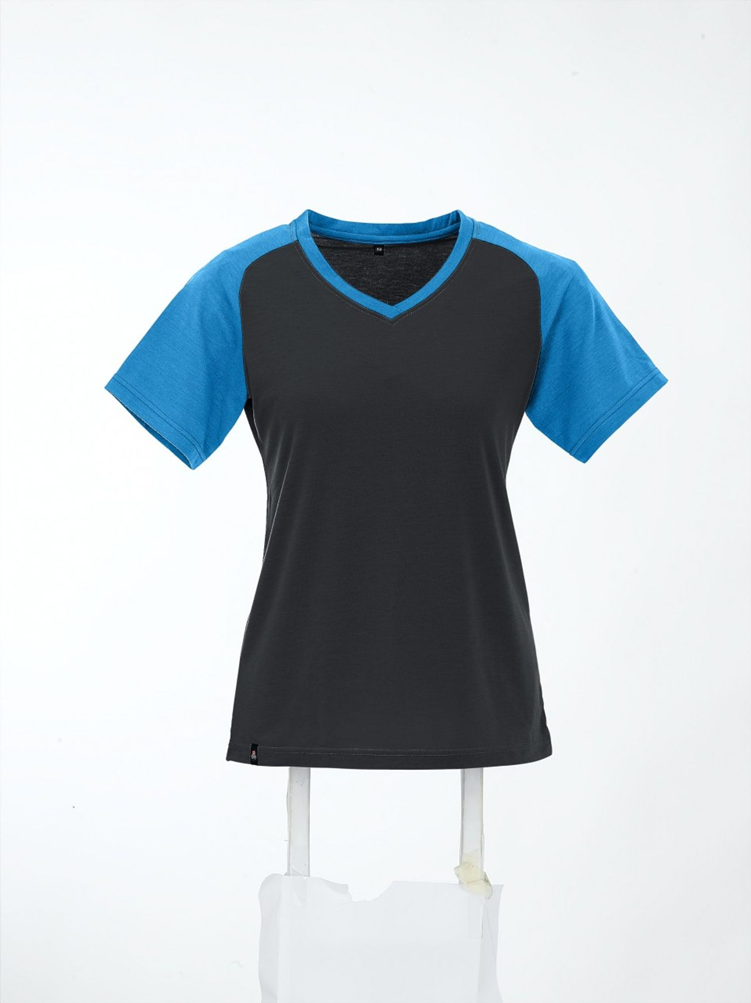 Maul Falzkoepfl Funktions-T-Shirt+Pr - black/sky blue