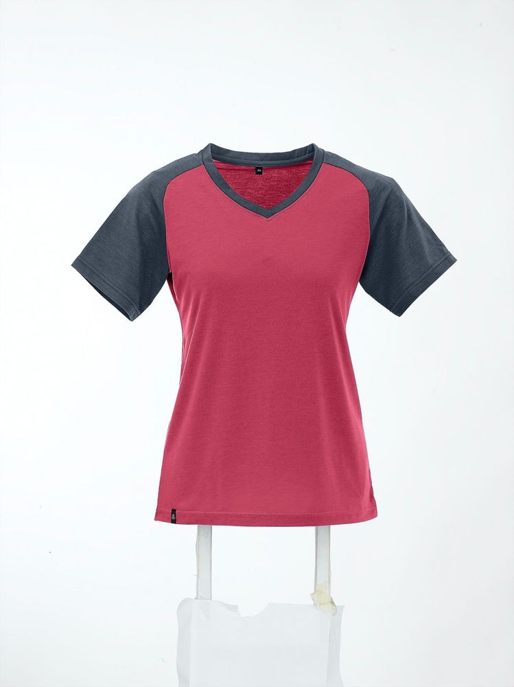 Maul Falzkoepfl Funktions-T-Shirt+Pr - teaberry