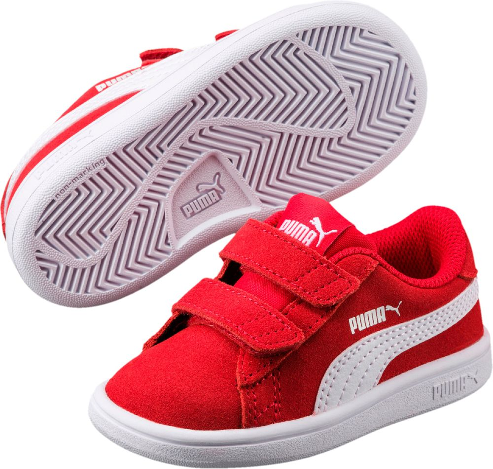 Puma Smash v2 SD V Inf - high risk red-puma white