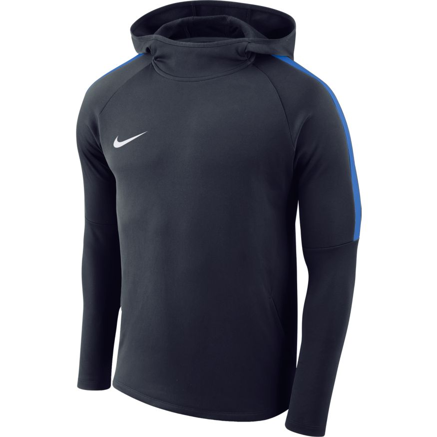 Nike M Nk Dry Acdmy18 Hoodie Po - obsidian/royal blue/royal blue