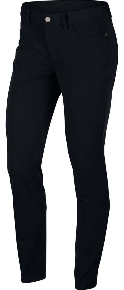 Nike W Nk Dry Pant Wvn Slm 30 - black/white