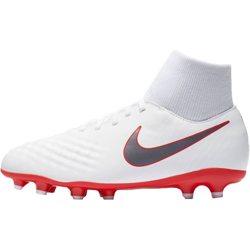 Nike Jr Obra 2 Academy Df Fg - white/mtlc cool grey-lt crimso