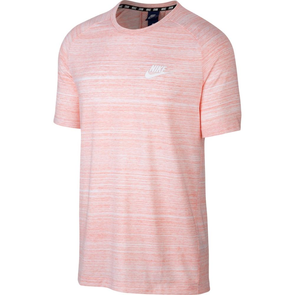 Nike M Nsw Av15 Top Knit Ss - white/rush coral/htr/white