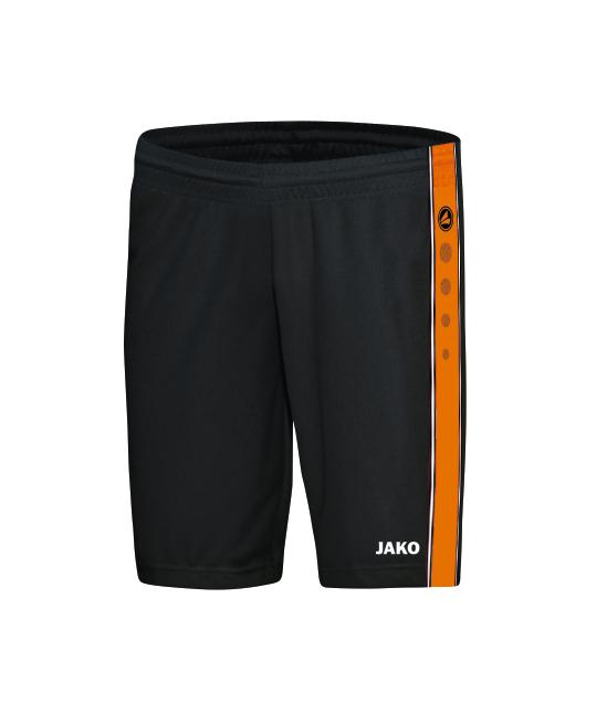 Jako Short Center - schwarz/neonorange