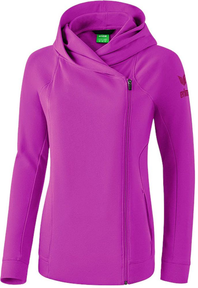 Erima Essential Hoody Jacket - fuchsia/purple potion - Kapuzensweats-Kinder