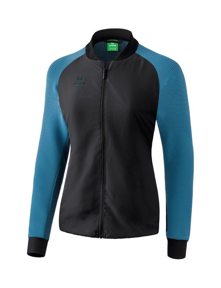 Erima Premium One 2.0 Presentation Jacket - black/niagara - Jacken-Anoraks-Damen