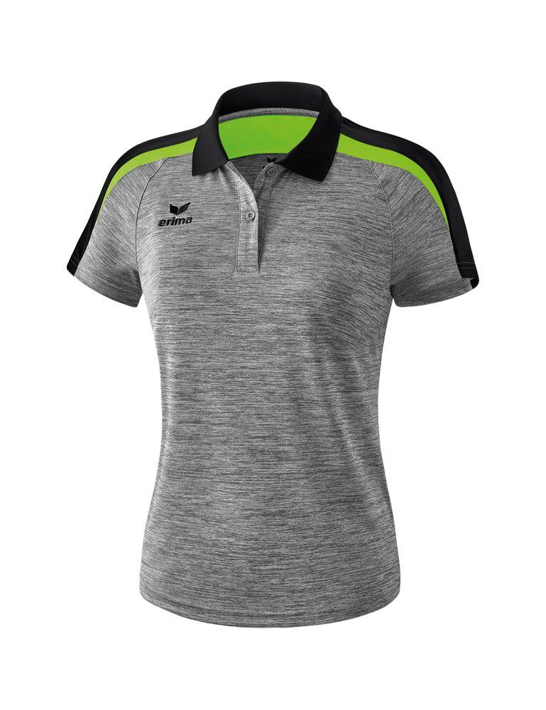 Erima Liga Line 2.0 Poloshirt Function - greymelange/black/green gecko - Polos-Damen