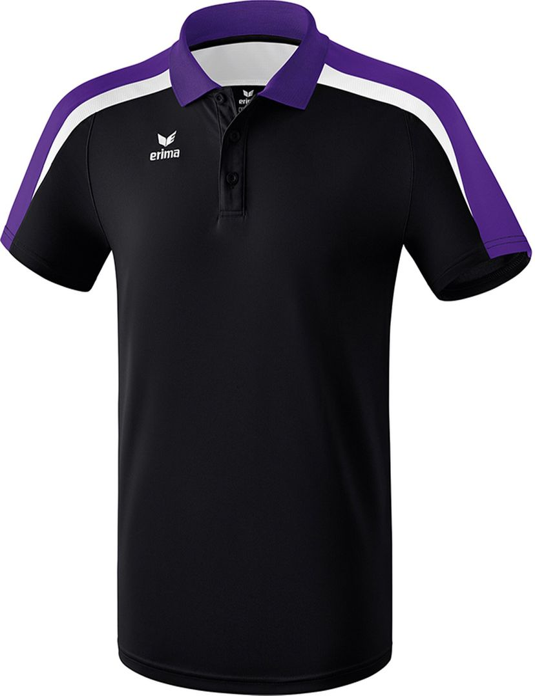 Erima Liga Line 2.0 Poloshirt Function - black/dark violet/white - Polos-Kinder