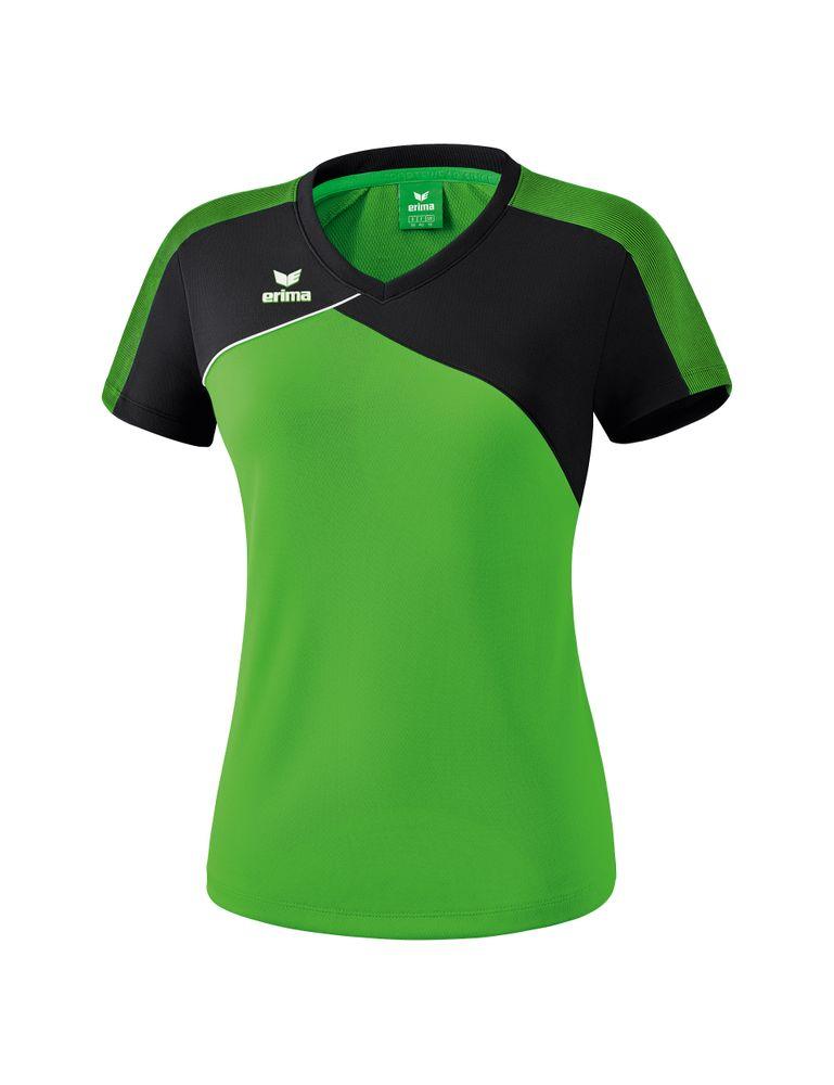 Erima Premium One 2.0 T-Shirt Function - green/black/white - T-Shirts-Tanks-Damen