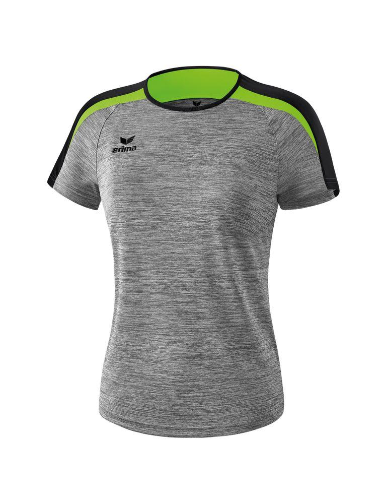 Erima Liga Line 2.0 T-Shirt Function - greymelange/black/green gecko - T-Shirts-Tanks-Damen
