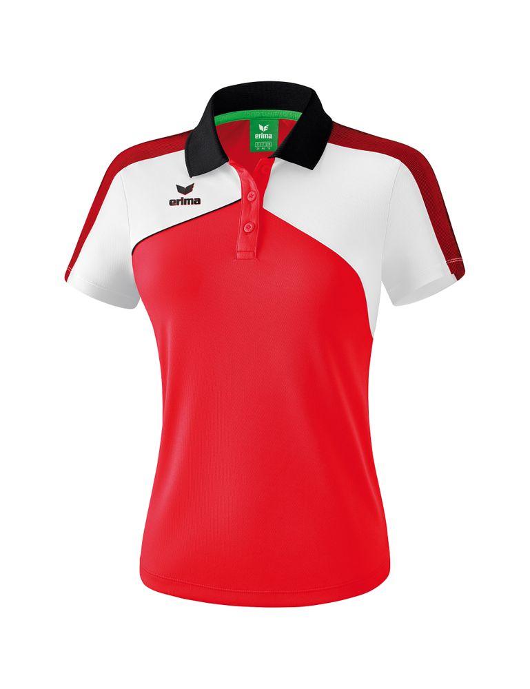 Erima Premium One 2.0 Poloshirt Function - red/white/black - Polos-Damen