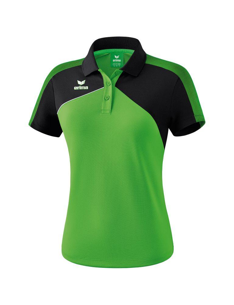 Erima Premium One 2.0 Poloshirt Function - green/black/white - Polos-Damen