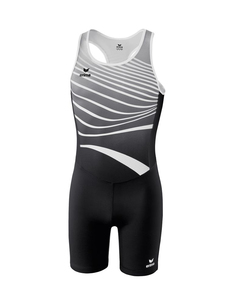 Erima Athletic Jumpsuit Sprinter - black/white - Overalls-Bodies-Herren