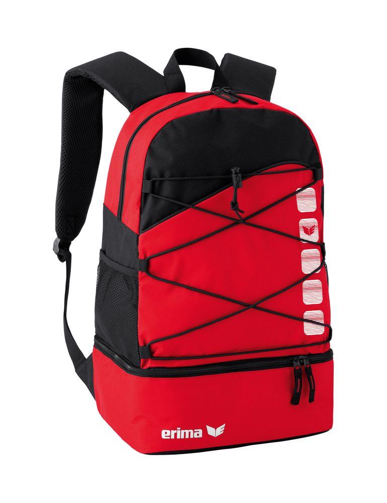 Erima Club 5 Multi-Functional Back Pack - red/black - Rucksäcke-Unisex