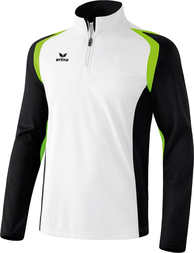 Erima Razor 2.0 Training Top - white/black/green gecko - Sweatshirts-Kinder