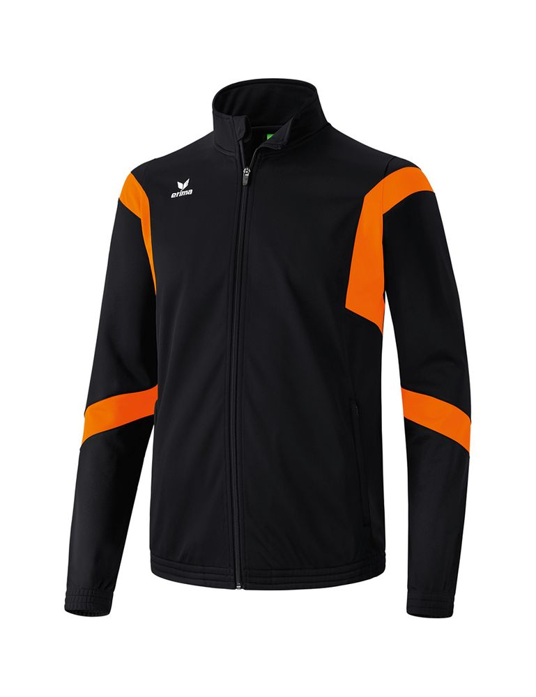 Erima Classic Team Training Jacket - black/orange - Kapuzensweats-Herren