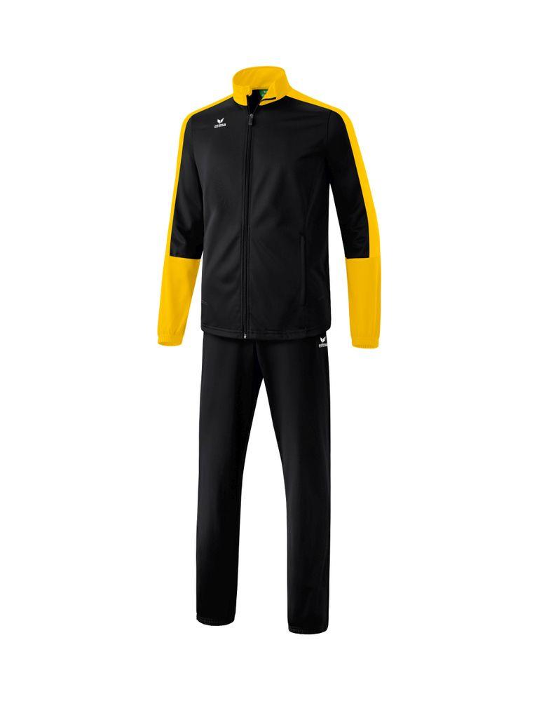 Erima Toronto 2.0 Shiny Suit - black/yellow - Sportanzüge-Kinder