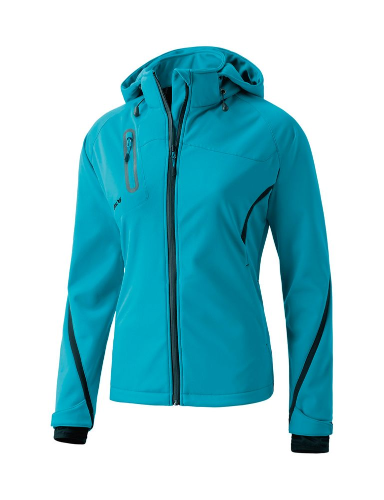 Erima Softshell Jacket Function - petrol/black - Funktionsjacken-Damen