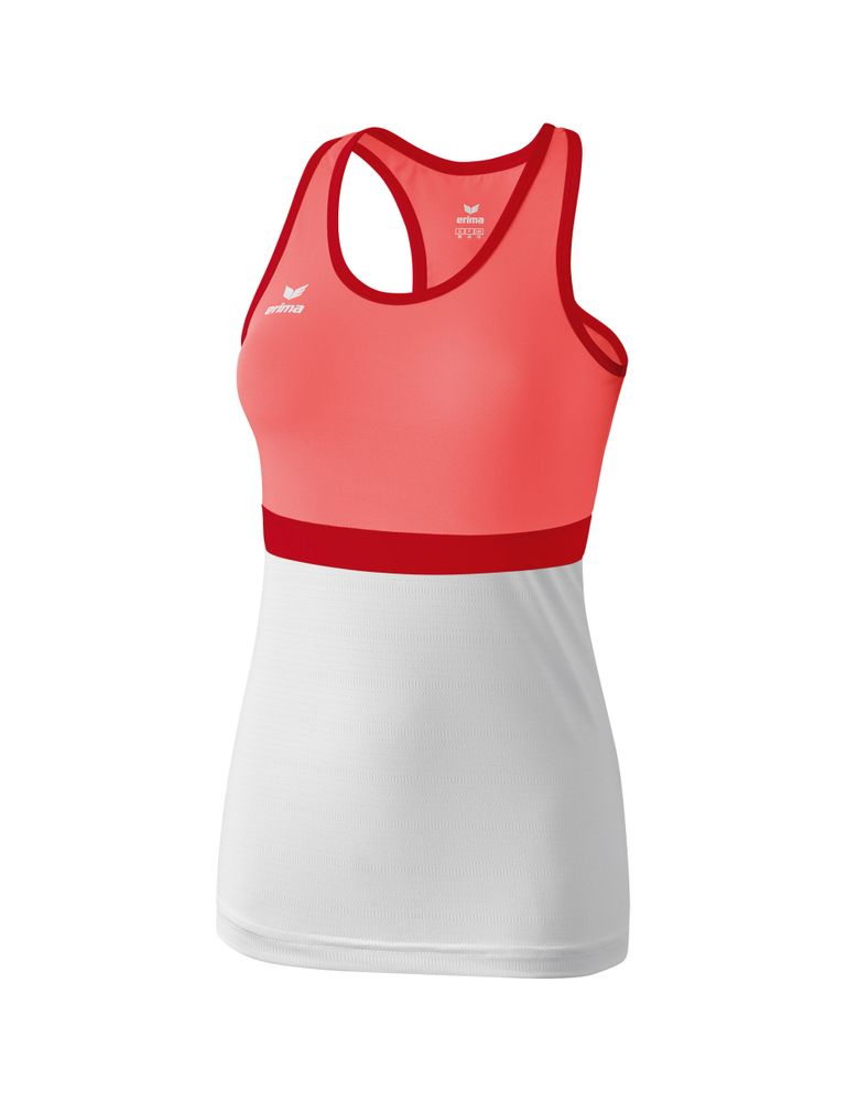 Erima Masters Tanktop - hot coral/white - T-Shirts-Tanks-Kinder