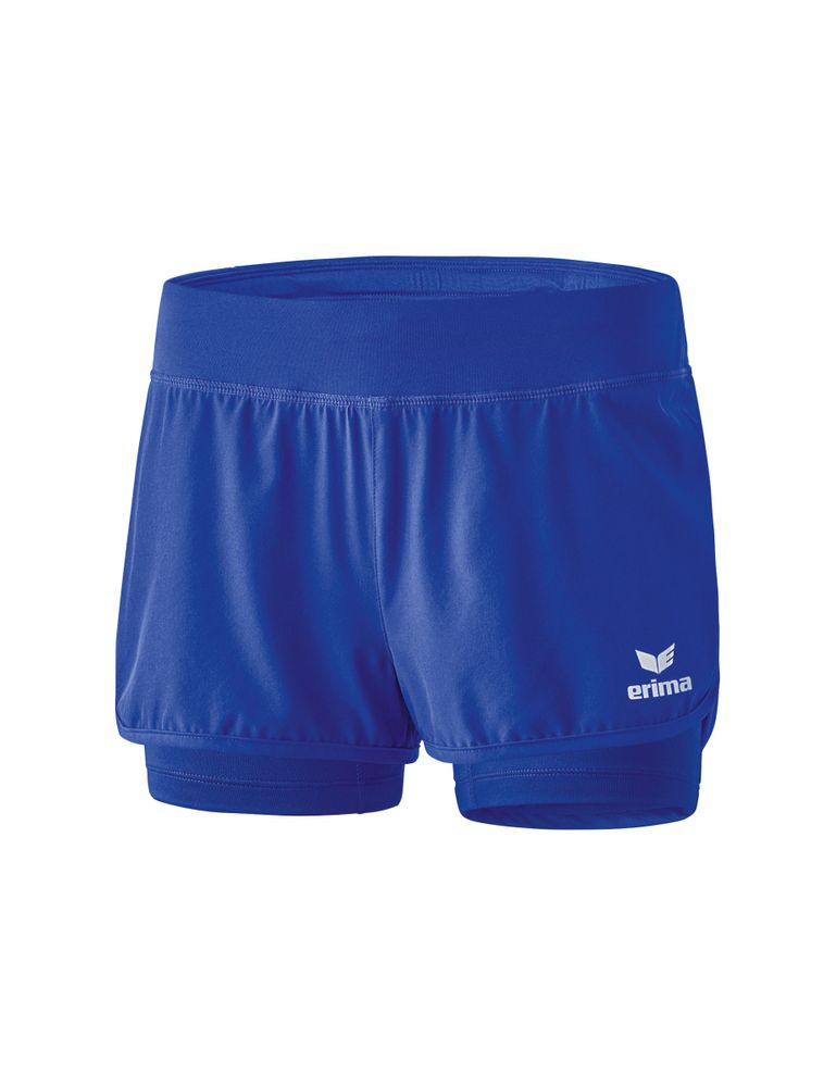 Erima Masters 2In1 Shorts - mazarine blue - Shorts-Damen
