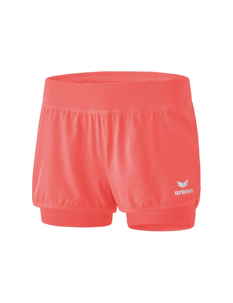 Erima Masters 2In1 Shorts - hot coral - Shorts-Damen