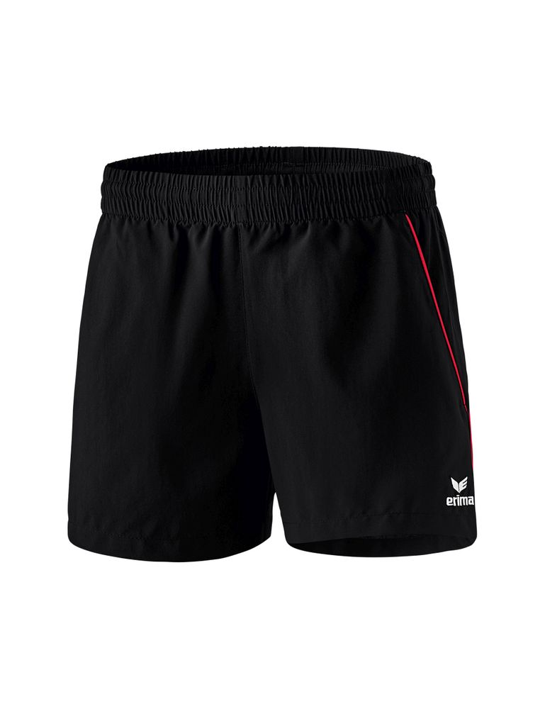 Erima Ping-Pong Shorts - black/red - Shorts-Damen