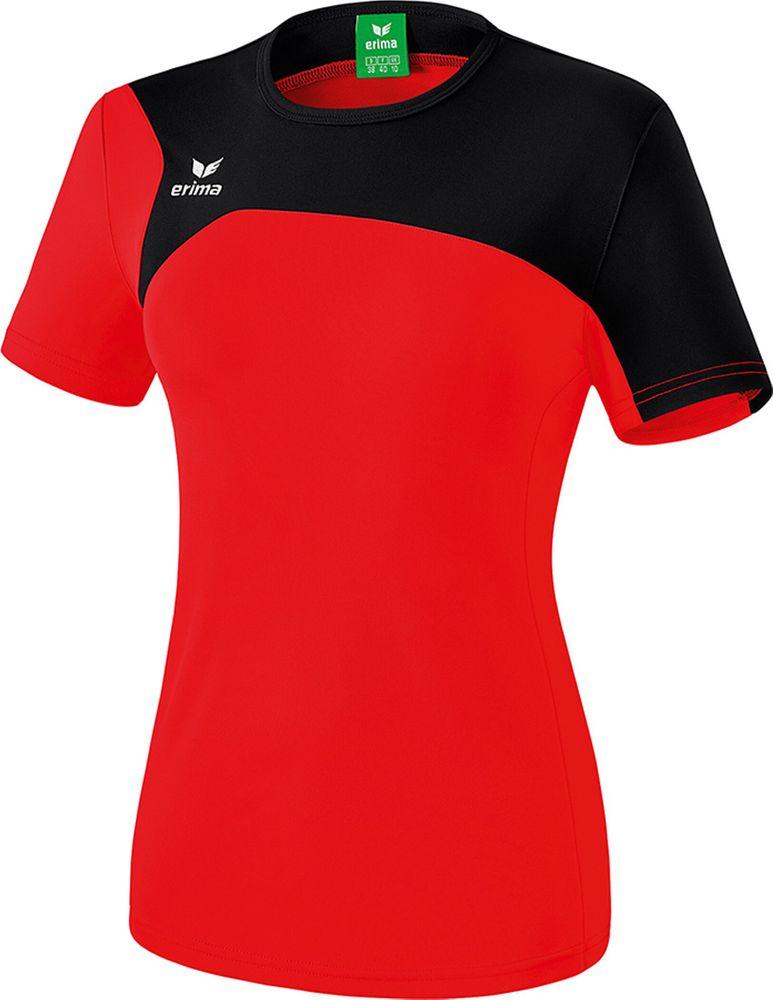 Erima Club 1900 2.0 T-Shirt - red/black - T-Shirts-Tanks-Damen